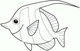 Fish Coloring Sheet Free Pages For Kids