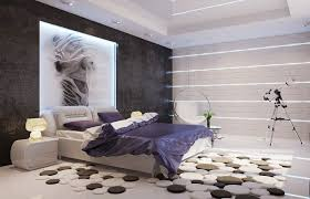 Artistic Black And White Modernbedroom Design 2017 With Unique Shaped Bed Furniture