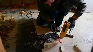 Removing Asbestos Floor Tiles In California by How To Remove Vinyl Tiles Fast Youtube