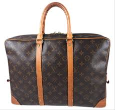 Louis Vuitton Porte Brief Case Brown Canvas Leather Laptop Bag Tradesy