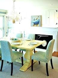 Teal Dining Room Colorful Chairs Yellow Table Tables