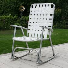 Vintage Aluminum White Webbed Folding Rocker Rocking Lawn Patio ... Stylish Collection Of Outdoor Chaise Lounge Chairs Sling Pair Of Lawn By Telescope Fniture Company For Sale At 1stdibs A Guide To Buying Vintage Patio Design Costco Beach Inspiring Fabric Sheet Chair Cheap Find Deals On Line Rejuvenate Metal 12 Steps With Pictures Table Clearance Big Home Depot Macram Blue White Retro Antique Knitted Bean Bag 56 Gliders 1000 Ideas About Details About 2 Vintage Sunbeam Matching Alinum Folding Webbed