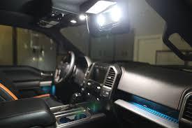 2017-18 RAPTOR F-150 Front Interior Vanity Mirror LED Light Kit ...