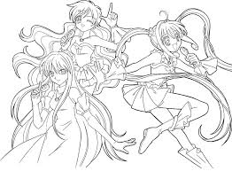 Coloring Page Mermaid Melody Pichi Pitch Cartoons 85
