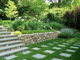 backyard retaining wall landscape traditional with fragrant garden
