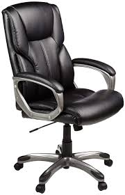 AmazonBasics High-Back Executive Swivel Office Computer Desk Chair - Black  With Pewter Finish Recliner Office Chair Pu High Back Racing Executive Desk Black Replica Charles Ray Eames Leather Friesian And White Hon Highback With Synchrotilt Control In Hvl722 By Sauda Blackmink Office Chair Black Leatherlook High Back Executive Derby High Back Executive Chair Black Leather Cappellini Lotus Eliza Tinsley Mesh Adjustable Headrest Big Tall Zetti