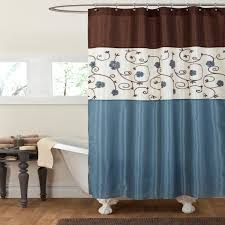 Lush Decor Window Curtains by Slate Blue And Brown Curtains Blue And Gray Dining Room With