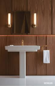 Kohler Purist Widespread Lavatory Faucet by Gleaming Gold Bathroom Towel Rings Gold Bathroom And Wall Sconces