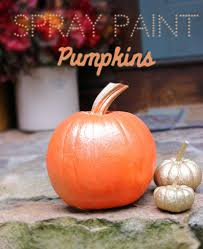 Carvable Foam Pumpkins Walmart by Diy Spray Paint Pumpkins Lifestyle Blog