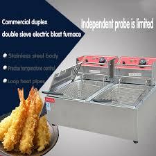 tamis electrique cuisine 1 pc commerciale duplex tamis électrique friture poêle avec