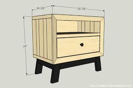Free Solid Wood Dresser Plans by Remodelaholic Diy Chunky Solid Wood Nightstand Tutorial
