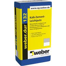 sg weber kalk zement leichtputz weber dur 132 30 kg