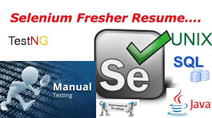 Selenium Fresher Resume Preparation - Software Testing