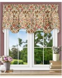 Jacobean Floral Design Curtains by Christmas Savings On Ellis Curtain Adelle Lined Scallop Valance