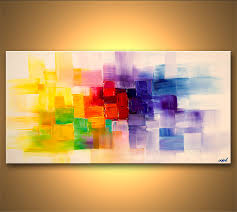 abstract painting colorful modern abstract palette knife