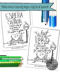 FREE Bible Verse Coloring Pages English And Spanish