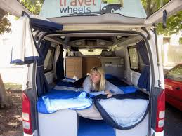 Lovely Sara In Bed The Back Of Our Campervan Hire Australia Van