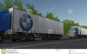 Freight Semi Trucks With BMW Logo Driving Along Forest Road ... Bmw X3 Model Trucks Hobbydb Diesel Car Sales Negligible In January And Suvs Fare Better Archives Leccar Bmw X5 Reviews 2015 2014 Xdrive35d Test Review Electric Trucks For Group Plant Munich 100 Electric Clean And 2008 X6 European Pickup Awesome Used 2 0d High Exec Turbo Stuk E30 Bmw Truck By Mrhonda On Deviantart Cars For Sale Davie Near Me Euro Truck Simulator Download Ets Mods Is First To Deploy An 40ton Roads