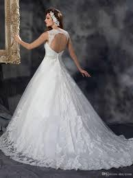 cheap open back ball gown wedding dress 2016 with crystal