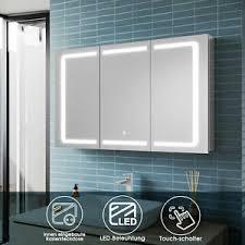 details zu spiegelschrank bad mit led beleuchtung badspiegel steckdose badschrank 105cm