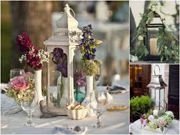 Spring Wedding Lantern Centerpiece