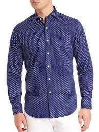 polo ralph lauren polka dot estate shirt in blue for men lyst