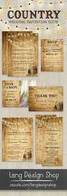 Country Wedding Invitation With Cowboy Boots Barrel And String Lights Over A Wood Background