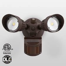 Two Head Motion Activated LED Outdoor Security Light Sensor