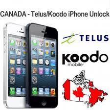Unlock Telus Koodo Canada iPhone 6 5S 5C 5 4S 4