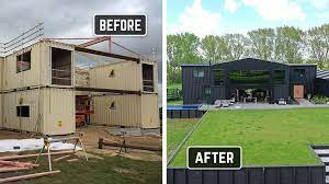104 Building House Out Of Shipping Containers Before And After Built With 12 Ie