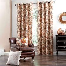 Jacobean Floral Design Curtains by Natural Jacobean Lined Eyelet Curtains Dunelm Livingroom