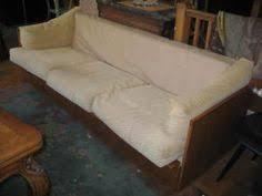 danish modern westnofa solid teak floating sofa couch mid century