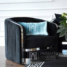 moderner sessel madonna für das wohnzimmer esszimmer schwarz silber