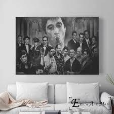 scarface al pacino classic poster und drucke wand bilder für wohnzimmer vintage leinwand malerei dekoration wohnkultur