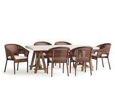 Vancouver Sawhorse Table Palmetto Honey Chair Dining Set