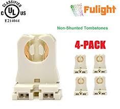 4 pack of fulight ul listed non shunted t8 l holder socket