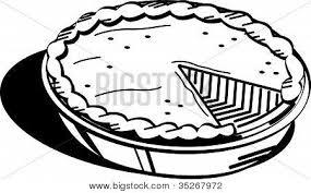 pumpkin pie clip art black and white