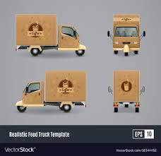 100 Coffee Trucks Truck Realistic Design Royalty Free Vector Image