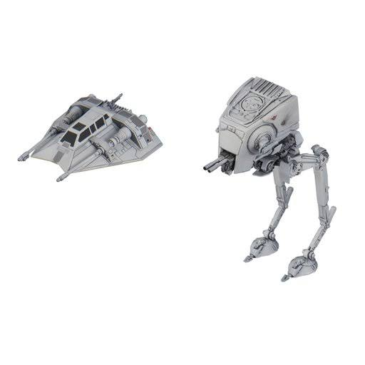 Bandai Star Wars Vehicle Model Kit - 008 At-st & Snowspeeder