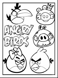 Great Angry Birds Printable Coloring Pages For Kids With And