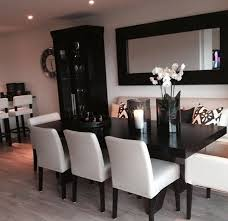 LipstickCurls Black And White Dining Room Dinning Table Furniture
