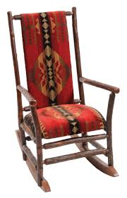 100 Jumbo Rocking Chair Hickory With Upholstered Seat And Back