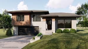 100 Modern Split Level Homes Graycliff Prairie House Plan