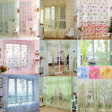 Sheer Voile Curtains Uk by Flower Voile Curtains U0026 Pelmets Ebay