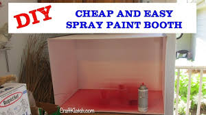 how to make a spray paint booth diy cheap craft klatch youtube