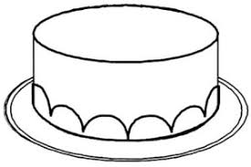 Birthday Cake Clipart Black And White No Candles