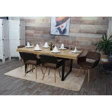 6x esszimmerstuhl hhg 429 ii stuhl küchenstuhl retro 50er jahre design kunstleder stoff hellbraun helle beine