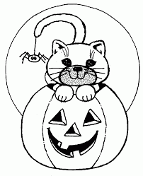 Halloween Cat Coloring Pages 3