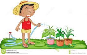 uses of water for watering plants clipart 1