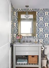 Powder Room Ideas | Better Homes & Gardens How Bathroom Wallpaper Can Help You Reinvent This Boring Space 37 Amazing Small Hikucom 5 Designs Big Tree Pattern Wall Stickers Paper Peint 3d Create Faux Using Paint And A Stencil In My Own Style Mexican Evening Removable In 2019 Walls Wallpaper 67 Hd Nice Wallpapers For Bathrooms Ideas Wallpapersafari Is The Next Design Trend Seashell 30 Modern Colorful Designer Our Top Picks Best 17 Beautiful Coverings